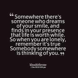 Somewhere there's 