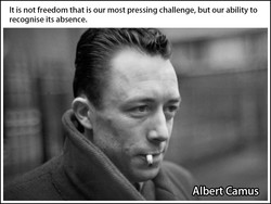 It is not freedom that is our most pressing challenge, but our ability to 