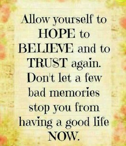 Allow yourself to