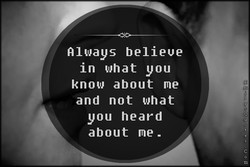 Rluays believe 