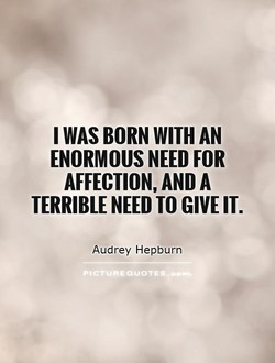 I WAS BORN WITH AN 