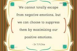 We cannot totally escape 