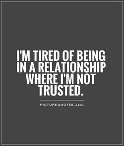 I'M TIRED OF BEING 
