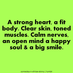 A strong heart, a fit 