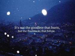 It's no/ the goodbye that hurts, 