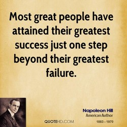 Most great people have 