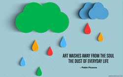 ART WASHES AWAY FROM THE SOUL 