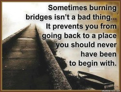 Sometimes burmng 