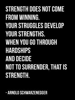STRENGTH DOES NOT COME 