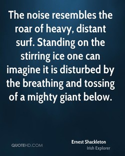 The noise resembles the 
