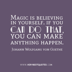 MAGIC IS BELIEVING 