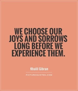 WE CHOOSE OUR 