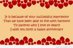 It is because OF your successful tnatrirnony 