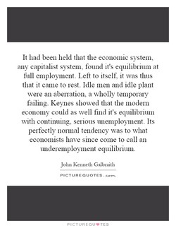 It had been held that the economic system, 