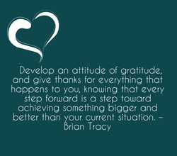 Develop an attitude of gratitude, 