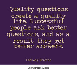 Quality questions 
