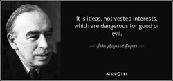 It is ideas, not vested interests, 