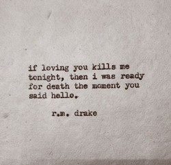 if loving you kille me 