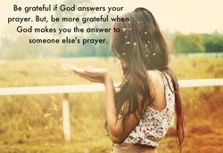 Be grateful if God answers your 