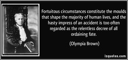 Fortuitous circumstances constitute the moulds 
