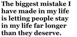 The biggest mistake I 