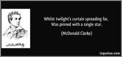 Whilst twilight's curtain spreading far, 