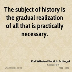 The subject of history is 