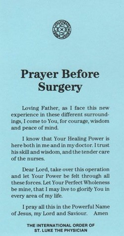 Prayer Before 