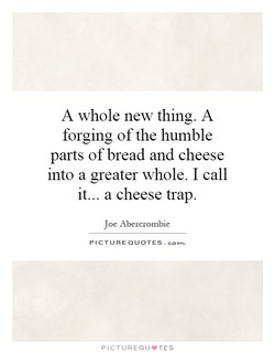 A whole new thing. A