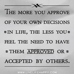 THE MORE YOU APPROVE 