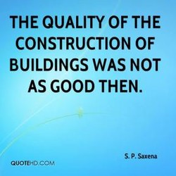 THE QUALITY OF THE 