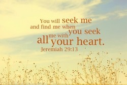 You seek me 