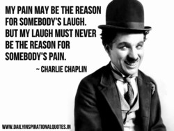 MY PAIN MAY BE THE REASON