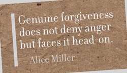 Genuine forgiveness 