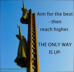 Aim for the best 