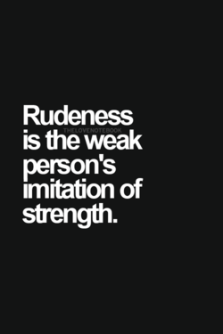 Rudeness 