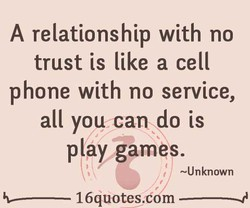 A relationship with no 