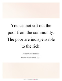 You cannot sift out the 