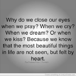 Why do we close our eyes 