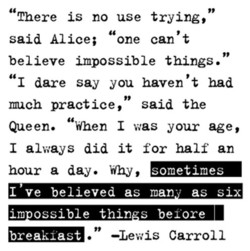 There is no use trying, 