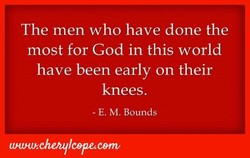The men who have done the
