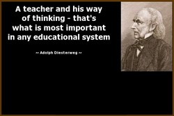 A teacher and his way 