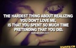 THE HARDEST THING ABOUTREAUZNG