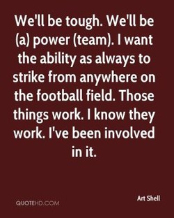 We'll be tough. We'll be 