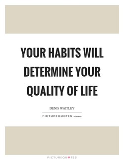 YOUR HABITS WILL 