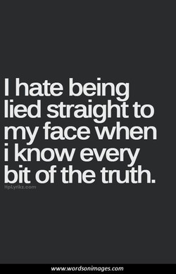 I hate being 