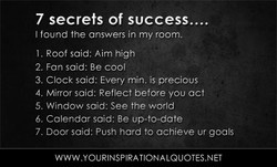 7 secrets of SUCCess.... 
