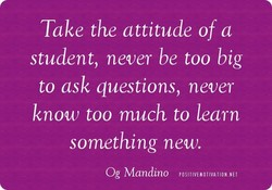 Take the attitude of a 