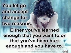 You let go 