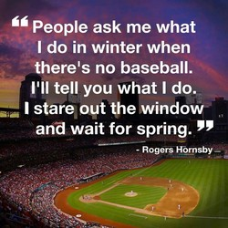 People ask me what 